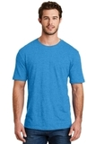 Men's Perfect Blend Crew Tee Heathered Bright Turquoise Thumbnail