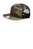 New Era Original Fit Snapback Trucker Cap Camo with Black Thumbnail