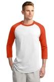 Colorblock Raglan Jersey White with Deep Orange Thumbnail