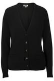 Women's Edwards V-neck Cardigan Sweater-tuff-pil Plus Black Thumbnail