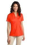 Port Authority Ladies Silk Touch Performance Polo Neon Orange Thumbnail