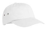 Fashion Twill Cap With Metal Eyelets White Thumbnail