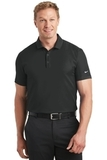 Nike Golf Dri-FIT Stretch Woven Polo Black with Black Thumbnail