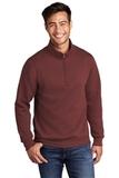 Core Fleece 1/4-Zip Pullover Sweatshirt Maroon Thumbnail