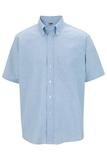 Men's Dress Button Down Oxford SS Blue Thumbnail