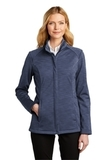 Ladies Stream Soft Shell Jacket Dress Blue Navy Heather Thumbnail