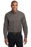 Tall Long Sleeve Easy Care Shirt Bark Thumbnail