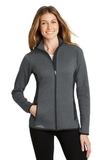 Women's Eddie Bauer Full-Zip Heather Stretch Fleece Jacket Dark Charcoal Heather Thumbnail