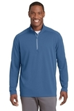 Sport-Wick Textured 1/4-Zip Pullover Dawn Blue Thumbnail