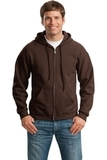 Full-zip Hooded Sweatshirt Dark Chocolate Thumbnail