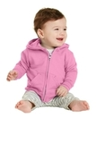 Infant Full-zip Hooded Sweatshirt Candy Pink Thumbnail