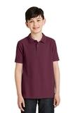 Youth Silk Touch Polo Shirt Burgundy Thumbnail