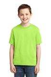Youth 50/50 Cotton / Poly T-shirt Neon Green Thumbnail