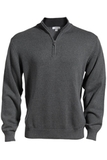 87 Cotton/13 Nylon Pull Over Sweater Charcoal Thumbnail
