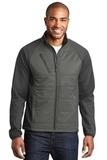 Hybrid Soft Shell Jacket Smoke Grey with Grey Steel Thumbnail