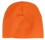 Beanie Cap Neon Orange Thumbnail