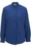 Women's Banded Collar Shirt Royal Thumbnail