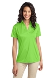 Port Authority Ladies Silk Touch Performance Polo Lime Thumbnail
