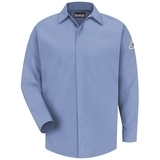 Concealed-gripper Pocketless Work Shirt With CAT 2 Protection Light Blue Thumbnail