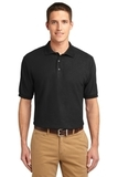 Extended Size Silk Touch Polo Shirt Black Thumbnail