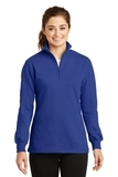 Women's 1/4-zip Sweatshirt True Royal Thumbnail
