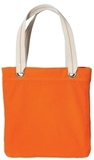 Allie Tote Bright Orange with Chocolate Thumbnail