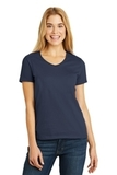 Women's V-neck T-shirt Navy Thumbnail