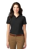 Women's Stain-resistant Polo Shirt Black Thumbnail