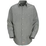 Long Sleeve Checked Industrial Work Shirt Hunter Khaki Check Thumbnail