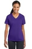 Women's Racermesh V-neck Tee Purple Thumbnail