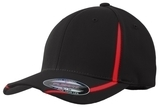 Flexfit Performance Colorblock Cap Black with True Red Thumbnail