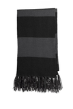 Spectator Scarf Black with Iron Grey Thumbnail