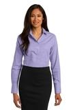 Women's Red House Windowpane Plaid Non-iron Shirt Thistle Purple Thumbnail