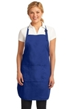 Easy Care Full-length Apron With Stain Release Royal Thumbnail