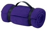 Value Fleece Blanket With Strap Purple Thumbnail