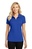 Women's Pinpoint Mesh Zip Polo True Royal Thumbnail