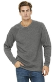 BELLACANVAS Unisex Sponge Fleece Raglan Sweatshirt Grey Triblend Thumbnail