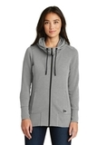 Women's New Era TriBlend Fleece FullZip Hoodie Shadow Grey Heather Thumbnail