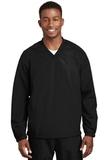 V-neck Raglan Wind Shirt Black Thumbnail