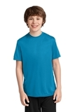 Youth Essential Performance Tee Neon Blue Thumbnail