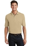 Pique Knit Polo Shirt With Pocket Stone Thumbnail
