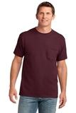5.4-oz 100 Cotton Pocket T-shirt Athletic Maroon Thumbnail