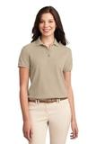 Women's Silk Touch Polo Shirt Stone Thumbnail