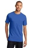 100 Cotton T-shirt With Pocket Royal Thumbnail