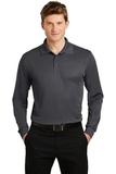 Long Sleeve Micropique Polo Shirt Iron Grey Thumbnail