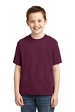 Youth 50/50 Cotton / Poly T-shirt Maroon Thumbnail