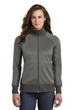 Women's The North Face Tech Full-Zip Fleece Jacket TNF Medium Grey Heather with Asphalt Thumbnail