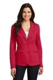 Women's Knit Blazer Rich Red Thumbnail