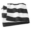 Cabana Stripe Beach Towel Black Thumbnail