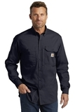 Carhartt Force Ridgefield Solid Long Sleeve Shirt Navy Thumbnail